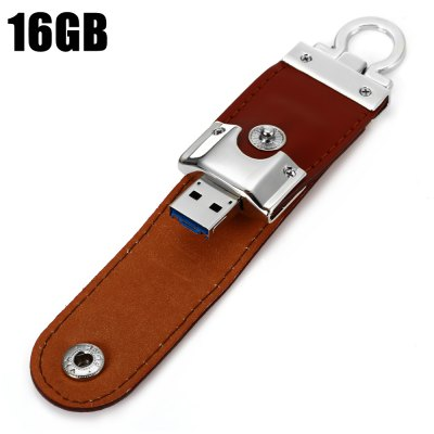 Portable Leather 2 in 1 16GB OTG Micro USB + USB 3.0 Flash Drive