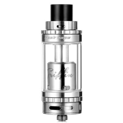 Original GeekVape Griffin 25 RTARebuildable Atomizers<br>Original GeekVape Griffin 25 RTA<br><br>Available Color: Black,Silver<br>Brand: Geekvape<br>Coil Quantity: Dual coil,Single coil<br>Material: Glass, Stainless Steel<br>Model: Griffin 25<br>Overall Diameter: 25mm<br>Package Contents: 1 x GeekVape Griffin 25 RTA, 1 x Replacement Glass Tank, 1 x 510 Drip Tip Adapter, 1 x Ceramic Block, 4 x Screw, 1 x Screwdriver, 18 x Insulated Ring<br>Package size (L x W x H): 9.50 x 8.00 x 3.50 cm / 3.74 x 3.15 x 1.38 inches<br>Package weight: 0.1980 kg<br>Product size (L x W x H): 2.50 x 2.50 x 7.00 cm / 0.98 x 0.98 x 2.76 inches<br>Product weight: 0.0810 kg<br>Rebuildable Atomizer: RBA,RTA<br>Tank Capacity: 6.0ml<br>Thread: 510<br>Type: Rebuildable Tanks, Rebuildable Atomizer