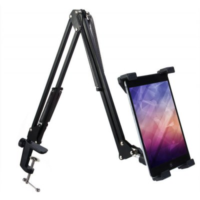 Telescopic Mobile Rack Shelf Tablet PC Holder Stand Removable 360 Degrees Rotation