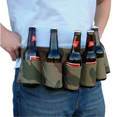 Portable High-quality 6-pack Outdoor Beer Belt Bottle Holder