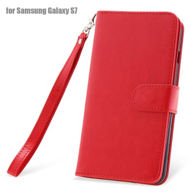 Crazy-horse PU Leather Protective Case for Samsung Galaxy S7