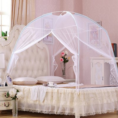 Lace Canopy Encryption Dome Mosquito Net for 1.8m Bed