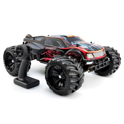 JLB 2.4G Cheetah 1 : 10 Scale 4 Wheel Drive High Speed Buggy RC Racing CarRC Cars<br>JLB 2.4G Cheetah 1 : 10 Scale 4 Wheel Drive High Speed Buggy RC Racing Car<br><br>Brand: JLB<br>Car Power: Built-in rechargeable battery<br>Channel: 2-Channels<br>Detailed Control Distance: About 100m<br>Drive Type: 4 WD<br>Features: Radio Control<br>Functions: Turn left/right, Head Up, Forward/backward, Flip<br>Material: Plastic, Metal, Electronic Components, ABS<br>Mode: Mode 2 (Left Hand Throttle)<br>Motor Type: Brushless Motor<br>Package Contents: 1 x RTR RC Car, 1 x Battery, 1 x Charger?with Cable?,1 x Remote Controller<br>Package size (L x W x H): 58.00 x 42.00 x 26.00 cm / 22.83 x 16.54 x 10.24 inches<br>Package weight: 5.7900 kg<br>Product size (L x W x H): 50.00 x 39.00 x 20.50 cm / 19.69 x 15.35 x 8.07 inches<br>Product weight: 3.8400 kg<br>Racing Time: About 35mins<br>Remote Control: 2.4GHz Wireless Remote Control<br>Transmitter Power: 4 x 1.5V AA (not included)<br>Type: Monster Truck