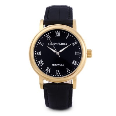 LUCKY FAMILY G8116 Casual Men Mechanical WatchMens Watches<br>LUCKY FAMILY G8116 Casual Men Mechanical Watch<br><br>Band material: Leather<br>Band size: 25.2 x 2 cm / 9.92 x 0.79 inches<br>Brand: Lucky Family<br>Case material: Stainless Steel<br>Clasp type: Pin buckle<br>Dial size: 4 x 4 x 1 cm / 1.57 x 1.57 x 0.39 inches<br>Display type: Analog<br>Movement type: Mechanical watch<br>Package Contents: 1 x LUCKY FAMILY G8116 Casual Men Mechanical Watch, 1 x Box<br>Package size (L x W x H): 8.70 x 8.00 x 5.30 cm / 3.43 x 3.15 x 2.09 inches<br>Package weight: 0.113 kg<br>Product size (L x W x H): 25.20 x 4.00 x 1.00 cm / 9.92 x 1.57 x 0.39 inches<br>Product weight: 0.050 kg<br>Shape of the dial: Round<br>Watch color: Black + Gold, Black + Silver, White + Gold, White + Silver<br>Watch style: Casual<br>Watches categories: Male table<br>Wearable length: 18.6 - 23 cm / 7.32 - 9.06 inches