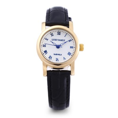 LUCKY FAMILY L8116 Casual Women Mechanical WatchWomens Watches<br>LUCKY FAMILY L8116 Casual Women Mechanical Watch<br><br>Band material: Leather<br>Band size: 20.6 x 1.5 cm / 8.11 x 0.59 inches<br>Case material: Stainless Steel<br>Clasp type: Pin buckle<br>Dial size: 2.5 x 2.5 x 1 cm / 0.98 x 0.98 x 0.39 inches<br>Display type: Analog<br>Movement type: Mechanical watch<br>Package Contents: 1 x LUCKY FAMILY L8116 Casual Women Mechanical Watch, 1 x Box<br>Package size (L x W x H): 8.70 x 8.00 x 5.30 cm / 3.43 x 3.15 x 2.09 inches<br>Package weight: 0.088 kg<br>Product size (L x W x H): 20.60 x 2.50 x 1.00 cm / 8.11 x 0.98 x 0.39 inches<br>Product weight: 0.026 kg<br>Shape of the dial: Round<br>Watch color: Black + Gold, Black + Silver, White + Gold, White + Silver<br>Watch style: Casual<br>Watches categories: Female table<br>Wearable length: 14.6 - 18.7 cm / 5.75 - 7.36 inches