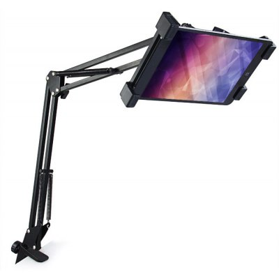 Telescopic Mobile Rack Shelf Tablet PC Holder Stand Removable 360 Degrees RotationiPad Mounts &amp; Holders<br>Telescopic Mobile Rack Shelf Tablet PC Holder Stand Removable 360 Degrees Rotation<br><br>Color: Black<br>Features: Rotatable, Adjustable Stand<br>Mainly Compatible with: iPad mini 3, iPad mini 2, Ipad Mini, iPad Air 2, iPad Air (iPad 5), Ipad 4, iPad 3, Ipad 2, iPad<br>Material: Metal<br>Package Contents: 1 x Telescopic Mobile Rack Shelf Bracket Stand, 1 x Clip, 1 x Base Holder, 1 x Connector<br>Package size (L x W x H): 40.00 x 15.30 x 6.20 cm / 15.75 x 6.02 x 2.44 inches<br>Package weight: 0.8220 kg<br>Product size (L x W x H): 95.00 x 19.50 x 14.50 cm / 37.4 x 7.68 x 5.71 inches<br>Product weight: 0.6460 kg<br>Type: Mount Holder