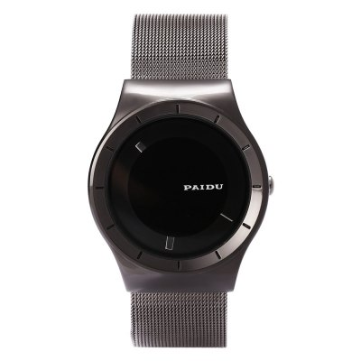 PAIDU 58977 Men Quartz WatchMens Watches<br>PAIDU 58977 Men Quartz Watch<br><br>Brand: Paidu<br>Watches categories: Male table<br>Watch style: Casual<br>Available color: Black,Silver,White<br>Movement type: Quartz watch<br>Shape of the dial: Round<br>Display type: Analog<br>Case material: Stainless Steel<br>Band material: Stainless Steel<br>Clasp type: Pin buckle<br>Dial size: 4 x 4 x 1 cm / 1.57 x 1.57 x 0.39 inches<br>Band size: 24 x 2.2 cm / 9.45 x 0.87 inches<br>Wearable length: 17.7 - 22 cm / 6.97 - 8.67 inches<br>Product weight: 0.072 kg<br>Package weight: 0.134 kg<br>Product size (L x W x H): 24.00 x 4.00 x 1.00 cm / 9.45 x 1.57 x 0.39 inches<br>Package size (L x W x H): 8.80 x 8.00 x 5.30 cm / 3.46 x 3.15 x 2.09 inches<br>Package Contents: 1 x PAIDU 58977 Casual Men Quartz Watch, 1 x Box