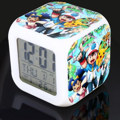 7 Color Change Cartoon Pattern Digital Alarm ClockClassic Toys<br>7 Color Change Cartoon Pattern Digital Alarm Clock<br><br>Appliable Crowd: Unisex<br>Materials: Electronic Components, Plastic<br>Nature: Clock<br>Package Contents: 1 x Alarm Clock, 1 x English Manual<br>Package size: 9.00 x 9.00 x 9.00 cm / 3.54 x 3.54 x 3.54 inches<br>Package weight: 0.1450 kg<br>Product size: 8.00 x 8.00 x 8.00 cm / 3.15 x 3.15 x 3.15 inches<br>Product weight: 0.1000 kg<br>Specification: Japan