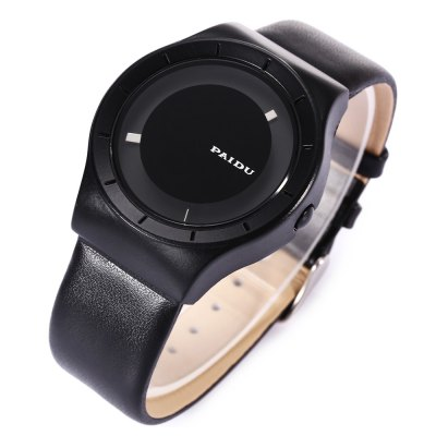 PAIDU 58977 Leather Strap Casual Men Quartz WatchMens Watches<br>PAIDU 58977 Leather Strap Casual Men Quartz Watch<br><br>Available Color: Black,White<br>Band material: Leather<br>Band size: 24.2 x 2.2 cm / 9.53 x 0.87 inches<br>Brand: Paidu<br>Case material: Stainless Steel<br>Clasp type: Pin buckle<br>Dial size: 4 x 4 x 1 cm / 1.57 x 1.57 x 0.39 inches<br>Display type: Analog<br>Movement type: Quartz watch<br>Package Contents: 1 x PAIDU 58977 Leather Strap Casual Men Quartz Watch, 1 x Box<br>Package size (L x W x H): 8.50 x 8.00 x 5.30 cm / 3.35 x 3.15 x 2.09 inches<br>Package weight: 0.119 kg<br>Product size (L x W x H): 24.20 x 4.00 x 1.00 cm / 9.53 x 1.57 x 0.39 inches<br>Product weight: 0.055 kg<br>Shape of the dial: Round<br>Watch style: Casual<br>Watches categories: Male table<br>Wearable length: 17.4 - 21.7 cm / 6.85 - 8.54 inches
