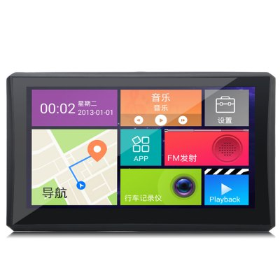 902 7 inch Android 4.4 Car Tablet GPS 1080P DVR Recorder