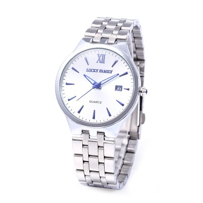 LUCKY FAMILY SG1278 Men Fashion Quartz WatchMens Watches<br>LUCKY FAMILY SG1278 Men Fashion Quartz Watch<br><br>Brand: Lucky Family<br>Watches categories: Male table<br>Watch style: Fashion<br>Available color: Black,White<br>Movement type: Quartz watch<br>Shape of the dial: Round<br>Display type: Analog<br>Case material: Stainless Steel<br>Band material: Stainless Steel<br>Clasp type: Folding clasp with safety<br>Special features: Date<br>Water resistance : Life water resistant<br>Dial size: 4 x 4 x 0.9 cm / 1.57 x 1.57 x 0.35 inches<br>Band size: 23 x 2 cm / 9.06 x 0.79 inches<br>Product weight: 0.082 kg<br>Package weight: 0.143 kg<br>Product size (L x W x H): 23.00 x 4.00 x 0.90 cm / 9.06 x 1.57 x 0.35 inches<br>Package size (L x W x H): 8.70 x 8.00 x 5.50 cm / 3.43 x 3.15 x 2.17 inches<br>Package Contents: 1 x LUCKY FAMILY SG1278 Fashion Men Quartz Watch, 1 x Box