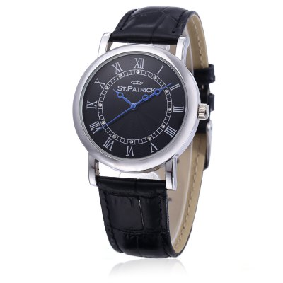 ST.PATRICK FI - 156A / B Fashion Men Quartz WatchMens Watches<br>ST.PATRICK FI - 156A / B Fashion Men Quartz Watch<br><br>Available Color: Black,Brown<br>Band material: Genuine Leather<br>Band size: 24 x  2 cm / 9.45 x 0.79 inches<br>Case material: Stainless Steel<br>Clasp type: Pin buckle<br>Dial size: 3.5 x 3.5 x 1 cm / 1.38 x 1.38 x 0.39 inches<br>Display type: Analog<br>Movement type: Quartz watch<br>Package Contents: 1 x ST.PATRICK FI - 156A / B Fashion Men Quartz Watch, 1 x Box<br>Package size (L x W x H): 11.00 x 11.00 x 8.00 cm / 4.33 x 4.33 x 3.15 inches<br>Package weight: 0.311 kg<br>Product size (L x W x H): 24.00 x 3.50 x 1.00 cm / 9.45 x 1.38 x 0.39 inches<br>Product weight: 0.031 kg<br>Shape of the dial: Round<br>Watch style: Fashion<br>Watches categories: Male table<br>Wearable length: 17.3 - 21.6 cm / 6.81 - 8.50 inches