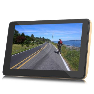 Android 4.4 Car Tablet GPS DVR 1080P DVR RecorderGPS Navigation<br>Android 4.4 Car Tablet GPS DVR 1080P DVR Recorder<br><br>About Maps : Support Google Maps<br>Battery: Built-in 3.7V 1200mAh li-ion battery<br>Charging way: Car charger<br>Color: Gold<br>CPU: MTK8127 Cortex A7<br>E-book: EPUG,FB2,HTM,HTML,LRC,PDF,TXT<br>External memory card: TF 32G (not included)<br>Function: Volume/backlight adjusting, Touch Screen, Time and date, Photo browser, E-book, FM Transmitter, Game player, Language selection, MP3/MP4 Players, Music/Video player, Navigation<br>GPS Start Time: Cold Start: Less than 45s (Autonomous),Hot Start: Less than 2s,Warm Start: Less than 35s<br>Input: DC 12V<br>Language: English,Simplified Chinese<br>Memory card support: TF card<br>Music: AAC,APE,FLAC,MP3,OGG,WAV,WMA<br>Operating system: Android<br>Operating temperature : -10 - 60 centigrade degree<br>Package Contents: 1 x Car GPS, 1 x Suction Cup Bracket, 1 x Car Charger ( 1.2m ), 1 x USB Cable ( 1.5m ), 1 x English User Manual<br>Package size (L x W x H): 23.00 x 15.50 x 13.00 cm / 9.06 x 6.1 x 5.12 inches<br>Package weight: 0.6490 kg<br>Picture: BMP,GIF,JPG,PNG<br>Pre-loaded Maps: Yes<br>Product size (L x W x H): 18.00 x 11.00 x 1.40 cm / 7.09 x 4.33 x 0.55 inches<br>Product weight: 0.2860 kg<br>ROM: 8G<br>Screen resolution: 800 x 480<br>Screen size: 7inch<br>Touch-screen: Yes<br>Type: GPS<br>Video: 3GP,AVI,DAT,FLV,M2TS,MKV,MOV,MP4,MPEG,PMP,RM,RMVB,TP,TS,VOB,WMV<br>Waterproof: No