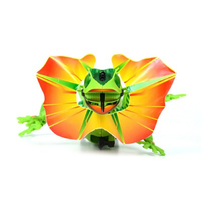 Infrared sensor electric lizard robot puzzle diy kit toy...