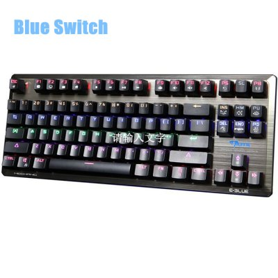 E - 3LUE K727 Gaming Mechanical Keyboard with Blue SwitchKeyboards<br>E - 3LUE K727 Gaming Mechanical Keyboard with Blue Switch<br><br>Brand: E - 3LUE<br>Cable Length (m): 1.8 m<br>Color: Black,White<br>Connection: USB2.0<br>Features: Gaming, Novelty<br>Interface: Wired<br>Keyboard Switch Brand: XINDA<br>Material: Metal<br>Model: E-BLUE K727<br>Package Contents: 1 x E-BLUE K727 Mechanical Gaming Keyboard with Blue Switch<br>Package size (L x W x H): 40.70 x 18.40 x 4.30 cm / 16.02 x 7.24 x 1.69 inches<br>Package weight: 1.0140 kg<br>Power Supply: USB Port<br>Product size (L x W x H): 36.50 x 14.25 x 3.30 cm / 14.37 x 5.61 x 1.3 inches<br>Product weight: 0.7600 kg<br>Type: Keyboard