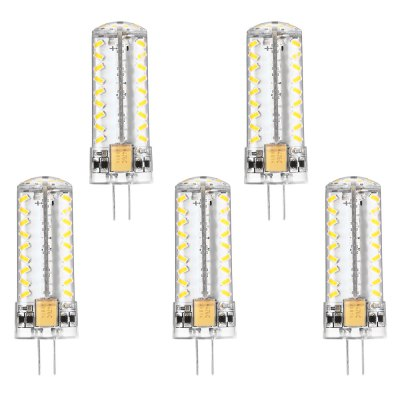 5pcs G4 4W 81 x SMD 3014 350Lm LED Corn Bulb Light