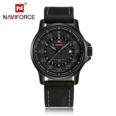 NAVIFORCE NF9076 Casual Men Quartz WatchMens Watches<br>NAVIFORCE NF9076 Casual Men Quartz Watch<br><br>Brand: Naviforce<br>Watches categories: Male table<br>Watch style: Casual<br>Available color: Gray,Red,White,Yellow<br>Movement type: Quartz watch<br>Shape of the dial: Round<br>Display type: Analog<br>Case material: Alloy<br>Band material: PU<br>Clasp type: Pin buckle<br>Special features: Date<br>Water resistance : 30 meters<br>Dial size: 4.6 x 4.6 x 1.4 cm / 1.81 x 1.81 x 0.55 inches<br>Band size: 25 x 2.4 cm / 9.84 x 0.94 inches<br>Product weight: 0.083 kg<br>Package weight: 0.198 kg<br>Product size (L x W x H): 25.00 x 4.60 x 1.40 cm / 9.84 x 1.81 x 0.55 inches<br>Package size (L x W x H): 11.50 x 8.60 x 6.60 cm / 4.53 x 3.39 x 2.6 inches<br>Package Contents: 1 x NAVIFORCE NF9076 Casual Men Quartz Watch, 1 x Box
