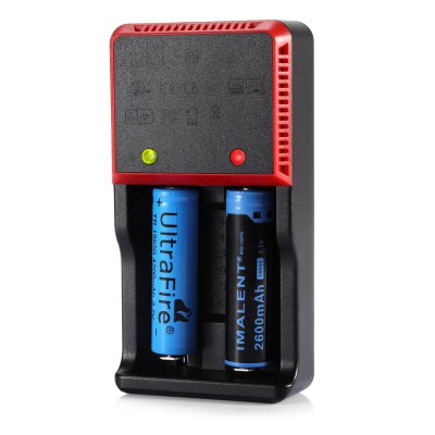 HXY - H2e 2 Slots LED Battery Charger for Li-ion LiFePO4 Ni-HM NiCd Batteries