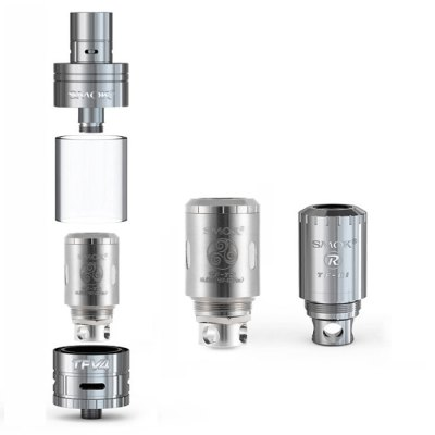 Original SMOK TFV4 RTAClearomizers<br>Original SMOK TFV4 RTA<br><br>Available Color: Black,Silver<br>Available Heater Core: TC Coil, Normal Coil<br>Brand: SMOK<br>Feature: Rebuildable, Detachable, Cleanable<br>Material: Stainless Steel<br>Model: TFV4<br>Package Contents: 1 x TFV4 RTA, 1 x TF-T3 Coil 0.2ohm, 1 x TF-R1 Single Coil(RBA Part), 1 x TFV4 Tank Glass Tube, 1 x RBA Tool, 1 x Black Silicon Band, 1 x White Silicon Band, 1 x O-ring, 1 x English User Manual, 1 x B<br>Package size (L x W x H): 10.00 x 7.00 x 7.00 cm / 3.94 x 2.76 x 2.76 inches<br>Package weight: 0.250 kg<br>Product size (L x W x H): 7.00 x 2.45 x 2.45 cm / 2.76 x 0.96 x 0.96 inches<br>Product weight: 0.092 kg<br>Rebuildable Atomizer: RBA,RTA<br>Tank Capacity: 5.0ml<br>Thread: 510<br>Type: Tank Atomizer, Clearomizer, Rebuildable Tanks, Rebuildable Atomizer