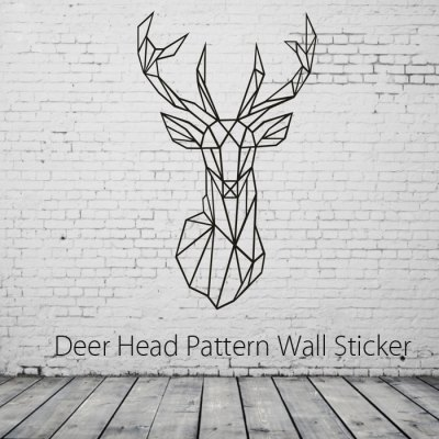 Deer Head Style Wallpaper PVC Sticker Wall Decoration