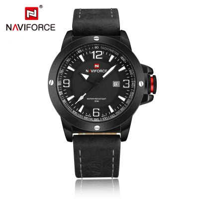 NAVIFORCE NF9077 Casual Men Quartz WatchMens Watches<br>NAVIFORCE NF9077 Casual Men Quartz Watch<br><br>Available Color: Gray,Red,White,Yellow<br>Band material: PU<br>Band size: 25.2 x 2.3 cm / 9.92 x 0.91 inches<br>Brand: Naviforce<br>Case material: Alloy<br>Clasp type: Pin buckle<br>Dial size: 4.6 x 4.6 x 1.3 cm / 1.81 x 1.81 x 0.51 inches<br>Display type: Analog<br>Movement type: Quartz watch<br>Package Contents: 1 x NAVIFORCE NF9077 Casual Men Quartz Watch, 1 x Box<br>Package size (L x W x H): 11.50 x 8.60 x 6.60 cm / 4.53 x 3.39 x 2.6 inches<br>Package weight: 0.206 kg<br>Product size (L x W x H): 25.20 x 4.60 x 1.30 cm / 9.92 x 1.81 x 0.51 inches<br>Product weight: 0.091 kg<br>Shape of the dial: Round<br>Special features: Date<br>Watch style: Casual<br>Watches categories: Male table<br>Water resistance : 30 meters