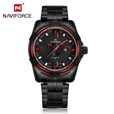 NAVIFORCE NF9079 Business Men Quartz WatchMens Watches<br>NAVIFORCE NF9079 Business Men Quartz Watch<br><br>Available Color: Coffee,Red,White,Yellow<br>Band material: Stainless Steel<br>Band size: 24.5 x 2.4 cm / 9.65 x 0.94 inches<br>Brand: Naviforce<br>Case material: Alloy<br>Clasp type: Folding clasp with safety<br>Dial size: 4.5 x 4.5 x 1.3 cm / 1.77 x 1.77 x 0.51 inches<br>Display type: Analog<br>Movement type: Quartz watch<br>Package Contents: 1 x NAVIFORCE NF9079 Business Men Quartz Watch, 1 x Box<br>Package size (L x W x H): 11.50 x 8.60 x 6.60 cm / 4.53 x 3.39 x 2.6 inches<br>Package weight: 0.302 kg<br>Product size (L x W x H): 24.50 x 4.50 x 1.30 cm / 9.65 x 1.77 x 0.51 inches<br>Product weight: 0.187 kg<br>Shape of the dial: Round<br>Special features: Date<br>Watch style: Business<br>Watches categories: Male table<br>Water resistance : 30 meters