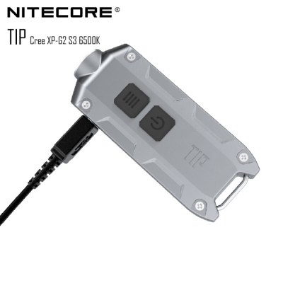 Nitecore TIP USB Rechargeable Cree XP - G2 S3 360Lm LED Keychain Light