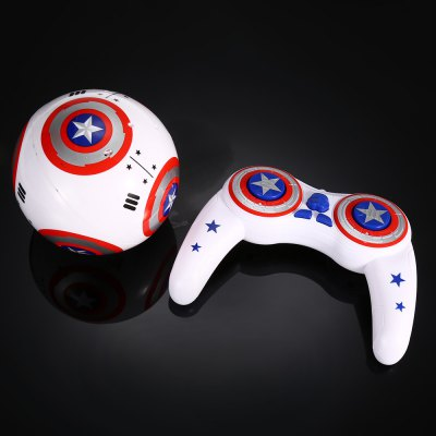 2.4G Remote Control Spherical Robot with Light / SoundClassic Toys<br>2.4G Remote Control Spherical Robot with Light / Sound<br><br>Age: Above 14 years old<br>Detailed Control Distance: 25~30m<br>Features: Radio Control<br>Material: Electronic Components, Plastic<br>Model Power: Built-in rechargeable battery<br>Package Contents: 1 x Robot, 1 x Transmitter, 1 x Charging Cable, 2 x AAA Battery<br>Package size (L x W x H): 40.00 x 19.00 x 20.00 cm / 15.75 x 7.48 x 7.87 inches<br>Package weight: 1.682 kg<br>Product size (L x W x H): 11.50 x 11.50 x 15.00 cm / 4.53 x 4.53 x 5.91 inches<br>Remote Control: Bluetooth Remote Control<br>Transmitter Power: 2 x 1.5V AAA battery (included)