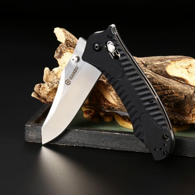 Ganzo G710 Portable Axis Locking Foldable Camping Hunting Knife 440C Stainless Steel Blade