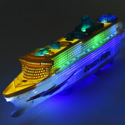 Electric Ocean Liner Boat Model with Light / Music Toy