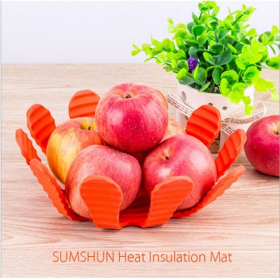 SUMSHUN Silicone Heat Insulation Mat Table Surface Protective Pad