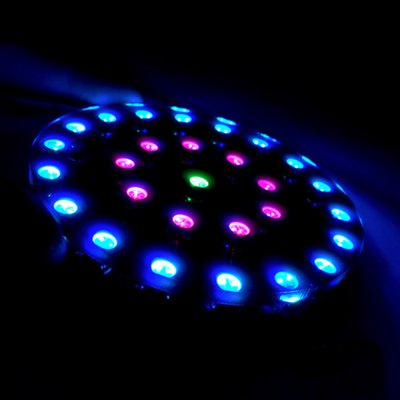Wearable RGB LED Crystal Energy Ring Kit