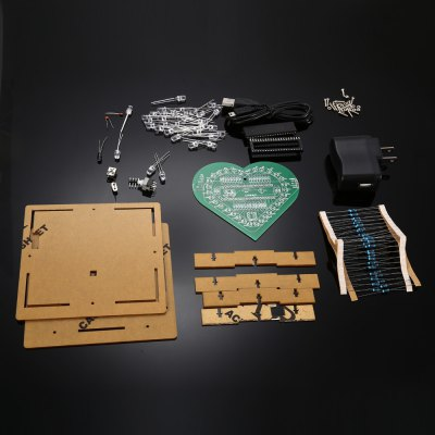 Heart Shape LED Lights Kit for DIY ProjectKits<br>Heart Shape LED Lights Kit for DIY Project<br><br>Package Contents: 1 x Heart Shape LED Lights Kit<br>Package Size(L x W x H): 15.00 x 13.00 x 4.00 cm / 5.91 x 5.12 x 1.57 inches<br>Package weight: 0.195 kg<br>Product weight: 0.167 kg<br>Suitable for: Arduino