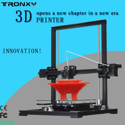 Tronxy X3 Desktop High Accuracy LCD Screen 3D Printer Kit3D Printers, 3D Printer Kits<br>Tronxy X3 Desktop High Accuracy LCD Screen 3D Printer Kit<br><br>Brand: Tronxy<br>Certificate: CE,FCC,RoHs<br>Engraving Area: 220 x 220 x 300mm ( max )<br>File format: STL, G-code<br>LCD Screen: Yes<br>Material diameter: 1.75mm<br>Memory card offline print: SD card<br>Model: X3<br>Nozzle diameter: 0.4mm<br>Nozzle quantity: Single<br>Nozzle temperature: 170-275 Degree<br>Package size: 48.70 x 30.50 x 19.70 cm / 19.17 x 12.01 x 7.76 inches<br>Package weight: 9.0200 kg<br>Packing Contents: 1 x Tronxy X3 High Accuracy LCD Screen 3D Printer Kit Self Assembly<br>Packing Type: unassembled packing<br>Print speed: 20 - 150mm/s<br>Product weight: 7.5000 kg<br>Voltage: 110V/220V<br>XY-axis positioning accuracy: 0.012mm<br>Z-axis positioning accuracy: 0.004mm