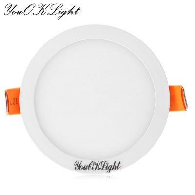 YouOKLight 8W 32 x SMD4014 600Lm Round LED Panel Light 110 - 265V