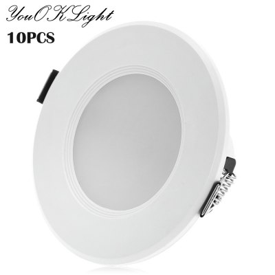 10pcs YouOKLight 8 x SMD5730 3W 200Lm LED Ceiling Downlight