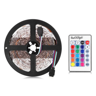 YouOKLight RGB LED Light StripLED Strips<br>YouOKLight RGB LED Light Strip<br><br>Brand: YouOKLight<br>Type: LED Strip<br>Features: Cuttable,IP-20,Low Power Consumption<br>Length: 10M<br>LED type: SMD-3528<br>Number of LEDs: 600<br>Optional Light Color: RGB<br>Connector type: EU plug,US plug<br>Input Voltage: AC 110-240V<br>Output Voltage: DC 12V<br>Rated Power (W): 50W<br>Rated Current: 6A<br>Material: PVC<br>Product weight: 0.096 kg<br>Package weight: 0.490 kg<br>Product size (L x W x H): 1,000.00 x 0.70 x 0.30 cm / 0.39 x 0.28 x 0.12 inches<br>Package size (L x W x H): 28.00 x 22.00 x 7.00 cm / 11.02 x 8.66 x 2.76 inches<br>Package Contents: 1 x YouOkLight LED Strip Light, 1 x 24 Keys Remote Controller, 1 x Controller Box, 1 x Adapter