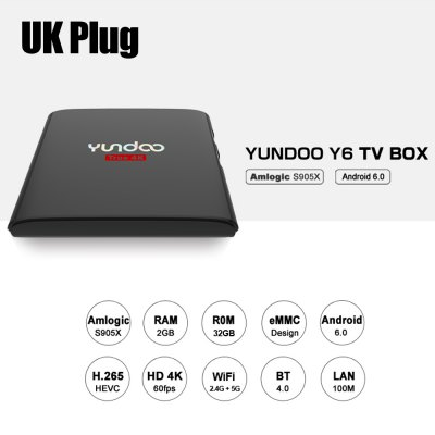 YUNDOO Y6 Android Box TV Amlogic S905X Quad Core