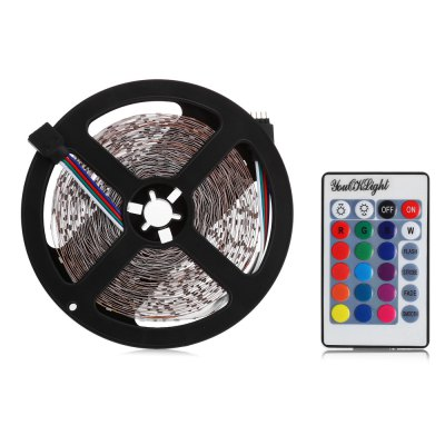 YouOKLight RGB LED Light StripLED Strips<br>YouOKLight RGB LED Light Strip<br><br>Brand: YouOKLight<br>Connector Type: US plug, EU plug<br>Features: IP-20, Low Power Consumption, Cuttable<br>Input Voltage: AC 110-240V<br>LED Type: SMD-3528<br>Length: 10m<br>Material: PVC<br>Number of LEDs: 600<br>Optional Light Color: RGB<br>Output Voltage: DC 12V<br>Package Contents: 1 x YouOkLight LED Strip Light, 1 x 24 Keys Remote Controller, 1 x Controller Box, 1 x Adapter<br>Package size (L x W x H): 28.00 x 22.00 x 7.00 cm / 11.02 x 8.66 x 2.76 inches<br>Package weight: 0.490 kg<br>Product size (L x W x H): 1,000.00 x 0.70 x 0.30 cm / 0.39 x 0.28 x 0.12 inches<br>Product weight: 0.096 kg<br>Rated Current (A): 6A<br>Rated Power (W): 50W<br>Type: LED Strip