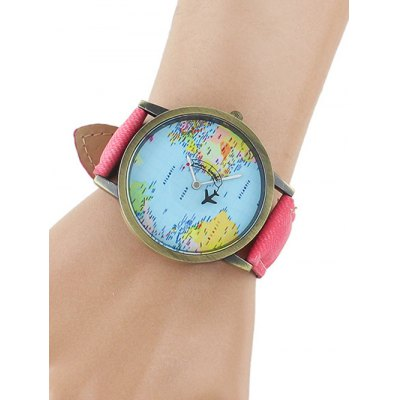 faux-leather-airplane-world-map-watch