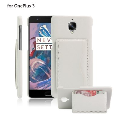 PU Leather Phone Back Case for OnePlus 3