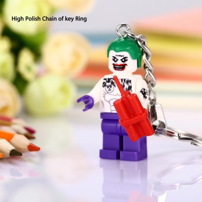 Alloy + Plastic Clown Shape Key Ring