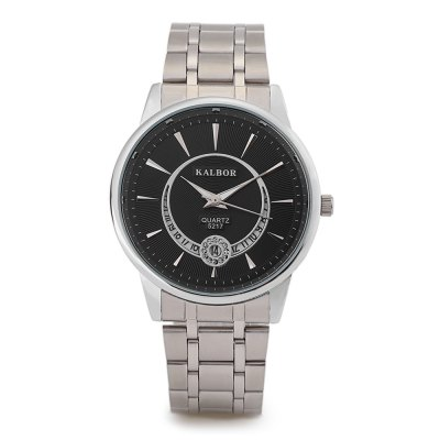 KALBOR 5217 Business Rhinestone Ring Dial Men Quartz WatchMens Watches<br>KALBOR 5217 Business Rhinestone Ring Dial Men Quartz Watch<br><br>Band material: Stainless Steel<br>Band size: 22 x 2 cm / 8.66 x 0.79 inches<br>Case material: Stainless Steel<br>Clasp type: Folding clasp with safety<br>Dial size: 3.8 x 3.8 x 1 cm / 1.5 x 1.5 x 0.39 inches<br>Display type: Analog<br>Movement type: Quartz watch<br>Package Contents: 1 x KALBOR 5217 Business Men Quartz Watch, 1 x Box<br>Package size (L x W x H): 8.50 x 8.00 x 6.00 cm / 3.35 x 3.15 x 2.36 inches<br>Package weight: 0.112 kg<br>Product size (L x W x H): 22.00 x 3.80 x 1.00 cm / 8.66 x 1.5 x 0.39 inches<br>Product weight: 0.078 kg<br>Shape of the dial: Round<br>Special features: Date<br>Watch color: Black, White, Black + Gold, White + Gold<br>Watch style: Business<br>Watches categories: Male table<br>Water resistance : Life water resistant