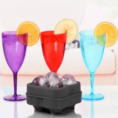Silicone Round DIY Ice Mold with 4 Grids
