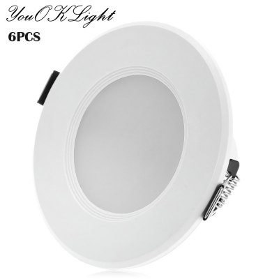 6PCS YouOKLight 3W SMD5730 200Lm LED Downlight