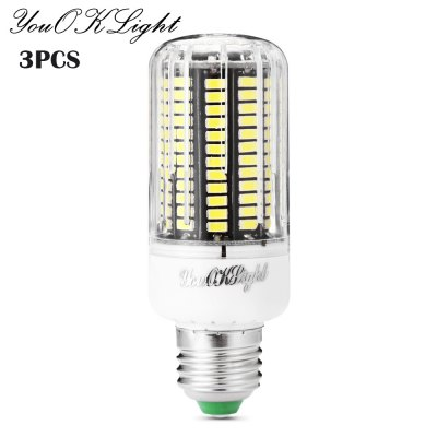 3pcs YouOKLight 12W E27 136 x SMD5733 1100Lm LED Corn Light