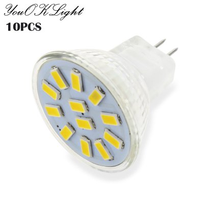 10pcs YouOKLight MR11 3W 12 x SMD5733 250LM LED Spot Bulb