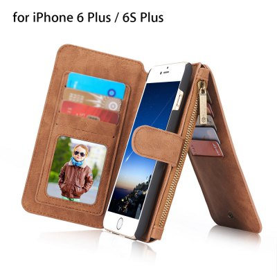 2 in 1 PU Leather Pocket Protective Case for iPhone 6 Plus / 6S Plus
