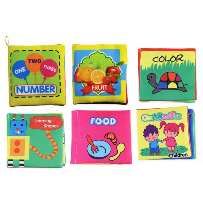 Infant Cloth Book Intelligent Toy - 6pcs / set