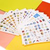 Portable Mini Sticker with Character Pattern 19pcs / set deal